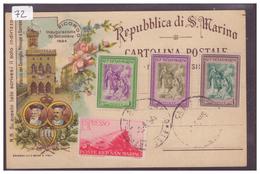SAN MARINO - B ( PLI D'ANGLE ) - San Marino