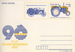 1983 , POLONIA , TARJETA ENTERO POSTAL , AGRICULTURA , MAQUINARIA , TRACTORES - Agricultura
