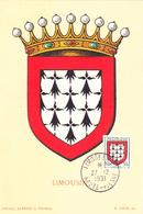 Carte-Maximum FRANCE N° Yvert 900 (LIMOUSIN) Obl Sp Limoges (Ed Louis) - 1950-59