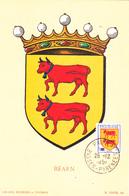 Carte-Maximum FRANCE N° Yvert 901 (BEARN) Obl Sp Pau (Ed Louis) - 1950-59