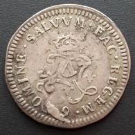 Louis XIV Quadruple Sols Aux 2 L 1692 Rennes. Flan Réformé Sur 4 Sols Des Traitants - 987-1789 Monnaies Royales