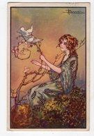 156 - ILLUSTRATEUR -  BUSI - Dame Et Oiseaux   *493-2* - Busi, Adolfo