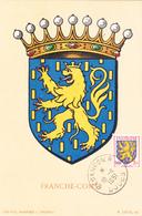 Carte-Maximum FRANCE N° Yvert 903 (FRANCHE-COMTE) Obl Sp Besançon (Ed Louis) - 1950-59