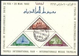 1962 LIBIA REGNO USATO FOGLIETTO FIERA DI TRIPOLI ANNULLO 1° GIORNO - RR12495 - Libia