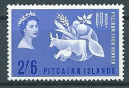 1963 PITCAIRN ISLANDS LOTTA CONTRO LA FAME MNH ** - GB002 - Pitcairn