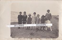 CHERRUEIX 1919 - Carte Photo '' Les Élégantes De Cherrueix Plage '' ( Ille Et Vilaine ) - Francia