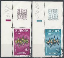 1972 ANDORRA FRANCESE USATO EUROPA - Europa-CEPT