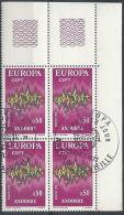1972 ANDORRA FRANCESE USATO EUROPA 50 CENT QUARTINA - 1972