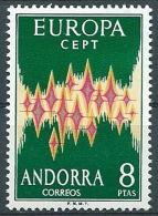 1972 EUROPA ANDORRA SPAGNOLA MNH ** - EV-3 - 1972