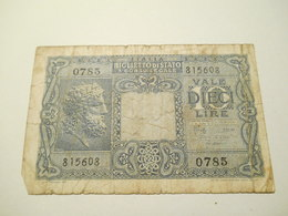 Italia Biglietto Di Stato 10  Lire 1944 - [ 1] …-1946 : Royaume