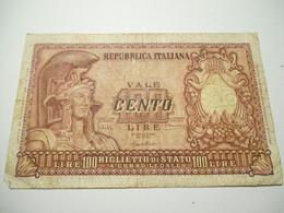 Italia Biglietto Di Stato 100  Lire 1952 - [ 2] 1946-… : República