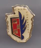 Pin's CSLG Poitou Charentes Club De Sports Et De Loisirs De La Gendarmerie Réf 3733 - Militaria