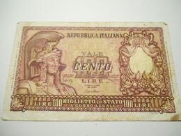 Italia Biglietto Di Stato 100  Lire 1952 - [ 2] 1946-… : Republiek
