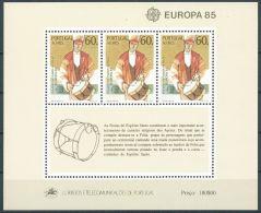 1985 EUROPA AZZORRE FOGLIETTO MNH ** - EV - Europa-CEPT