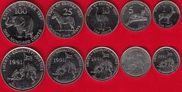 Eritrea Set Of 5 Coins: 1 - 100 Cents 1997 AU - Eritrea