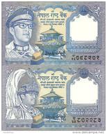 NEPAL 1 RUPEE ND1974-91 UNC P 22-37  ( 2  Billets ) - Népal