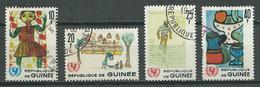 Guinée YT N°295-296-297-298 UNICEF Oblitéré ° - Guinea (1958-...)