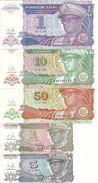 ZAIRE 1 LIKUTA 5-10-50 MAKUTA 1 ZAIRE UNC P 47-48-49-51-52  ( 5 Billets ) - Zaïre