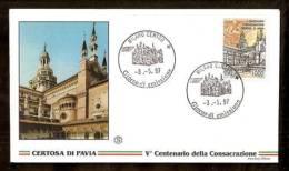 1997 ITALIA FDC CERTOSA DI PAVIA - 1946-.. République