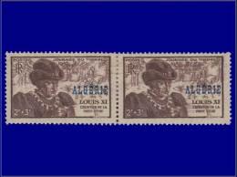 ALGERIE  Yvert:246, Paire Horizontale, Impression Brune Maculée: Journée Du Timbre 1945      - Qualité: X - Algeria (1924-1962)