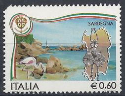 2007 ITALIA TURISTICA SARDEGNA VARIETà STRISCIA ORO SPOSTATA MNH ** - RR12042 - 6. 1946-.. República