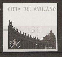 2008 VATICANO AUTOMATICI  SAN PIETRO 0,60 N° RETRO - Vatikan