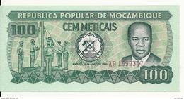 MOZAMBIQUE 100 METICAIS 1980 UNC P 126 - Mozambique