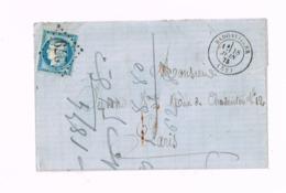 Cerès Sur Lettre De Badonviller ( Meurthe Et Moselle) à Paris. - 1871-1875 Cérès