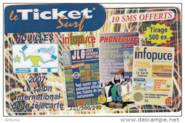 FRANCE - S.I.T. 2007, Ticket Surf Promotion Prepaid Card, Tirage 500, 01/07, Mint - Frankrijk