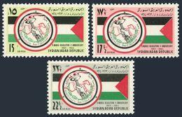 Syria C305-C307,MNH.Mi 854-856. Revolution Of Mart 8,1st Ann.1964.Flag,map. - Syria