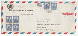 1950s PANAMERICAN Union COLOMBIA To UN USA COVER  Multi PRECOLOMBIAN NATIVE AMERICAN MONUMENT Stamps United Nations - Colombia