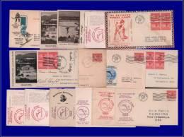 Jeux Olympiques  Yvert:Usa, Lot De 16 Enveloppes Avec Yvert 311, Illustrations Variées, Certaines Avec Signatures Autogr - Olympic Games