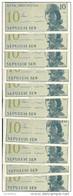 INDONESIE 10 SEN 1964 UNC P 92 ( 10 Billets ) - Indonésie