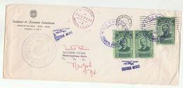 1957 PANAMA To UN 'WASHINGTON' Usa 'DEFICIENCY ADDRESS' Post Marking Redirected UNITED NATIONS NY Multi SOSA Stamp Cover - Panama