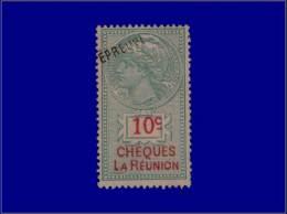 """REUNION Fiscaux Yvert:Chèques BDV 1, Surcharge """"""""épreuve"""""""": 10c.      - Qualité: ESS - Reunion Island (1852-1975)"""