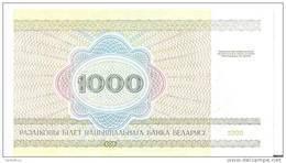 BIELORUSSIE 1000 RUBLEI 1998 UNC P 16 - Belarus
