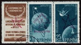 ROM SC #C52a U W/ovprt 1957 Sputnik 1, 2 CV ~$10.00 - Airmail