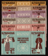 ROM SC #1240-5 MNH PR+LBL 1958 Regional Costumes CV $10.95 - 1948-.... Republics