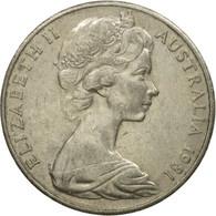 Monnaie, Australie, Elizabeth II, 20 Cents, 1981, TTB, Copper-nickel, KM:66 - Monnaie Décimale (1966-...)