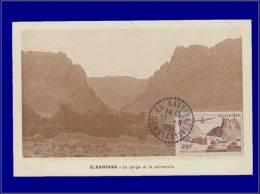 Algérie, Carte Maximum, Yvert 10 PA, El Kantara - Algeria (1924-1962)
