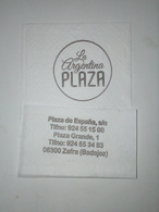 Servilleta,serviette .La Argentina Plaza,Espanha - Serviettes Publicitaires
