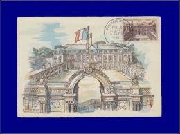 France, Carte Maximum, Yvert 1126, Palais De L'Elysée - Maximum Cards