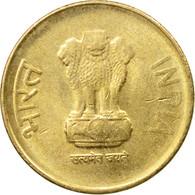 Monnaie, INDIA-REPUBLIC, 5 Rupees, 2015, TTB, Nickel-brass - Inde