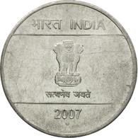 Monnaie, INDIA-REPUBLIC, Rupee, 2007, TTB, Stainless Steel, KM:331 - Inde