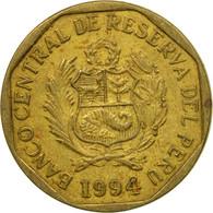 Monnaie, Pérou, 10 Centimos, 1994, Lima, TTB, Laiton, KM:305.1 - Pérou