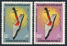 Syria C341-C342,MNH.Michel 905-906. Deir Yassin Massacre,1948.Map. - Medicine