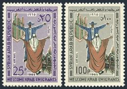 Syria C346-C347,MNH.Michel 915-916. To Welcome Arab Immigrants,1965. - Syrie
