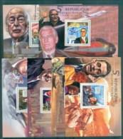 Guinee 2012 Famous People, French, Mitterand, Sarkozy, Chirac, De GaullePompidou, D'Estaing 6xMS MUH GU11512b - República De Guinea (1958-...)