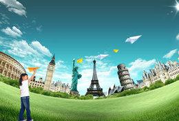 T53-004  ]   Statue Of Liberty  Pisa Eiffel Tower    ,  Pre-stamped Card,postal Stationery - Architektur
