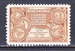 U.S. 972    **  AMER.  INDIAN  TERR.  MAP  &  TRIBAL  SEALS - American Indians